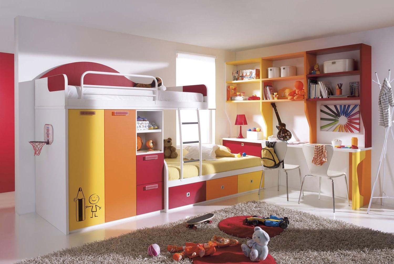 Дизайн детской с двухъярусной кроватью фото